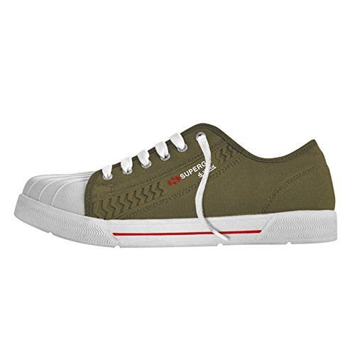 Scarpa, calzatura da lavoro SUPERGA bassa in canvas iceberg green. S1P taglia 40