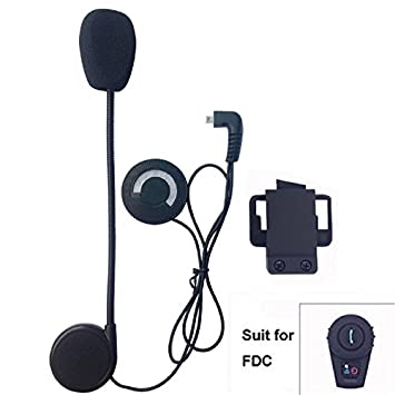 2 Units with Hard Cable Helmet Cmmunication Systems,FreedConn FDCVB Helmet Bluetooth Headset Intercom for Motorbike Skiing Range-800M//2-3Riders Pairing//Black