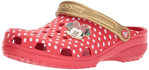 Crocs Clsscminnieclg Clog, Red, 9 US Men/11 US Women M (Mouse Shoe Charms)