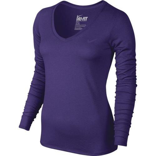 NIKE Womens Legend 2.0 Longsleeve Running Shirt, Court Purple, XL, 683640 547