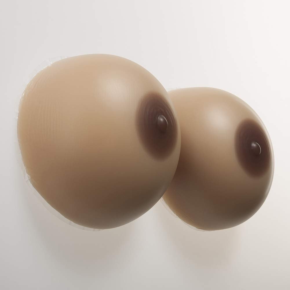 Silicone Breast Forms False Boobs Lifelike Non-Allergic for Crossdresser Transgender Mastectomy,2,3200G/9XL/Cuph/7.1 * 6.3 * 4.7Inch