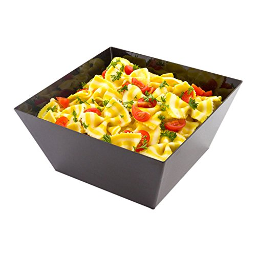 Medium Modern Bowl - Square Black Bowl -  Perfect for Catered Events, Weddings, Parties, Banquets - 6.7