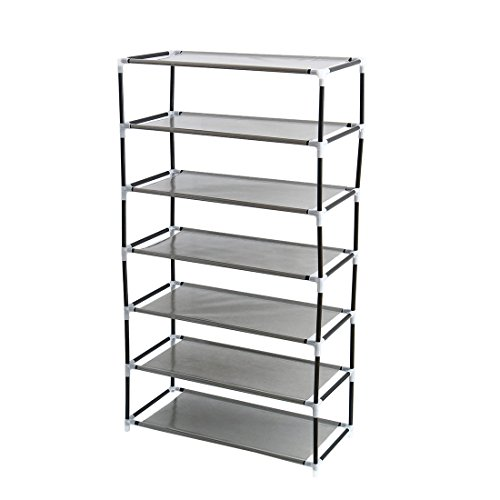 """uxcell Shoe Rack Tower, 7 Layers Holds 14 Pairs 40.6"""" Height"""