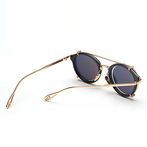 Sol Ojos Unisex Desmontable Gafas Punk Color Yxsd los Aviator Blanco a SunglassesMAN Pink de de Retro Rayas Metal Proteger 4t8XZn5qw