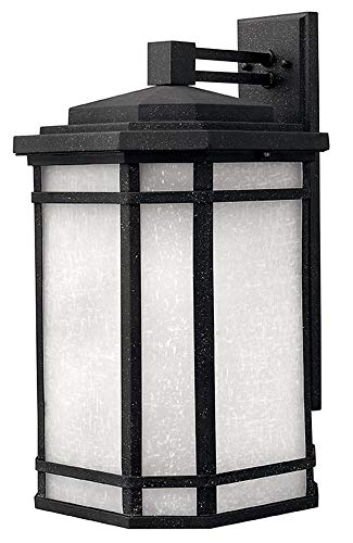 - Cherry Creek Outdoor Wall Lantern in Vintage Black Energy Saving: No