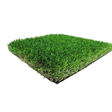 5' X 10' PREMIUM SYNTHETIC TURF - Indoor / Outdoor Green Two-Toned Artificial Grass w/ a Natural Tan Thatch and Drainage Holes