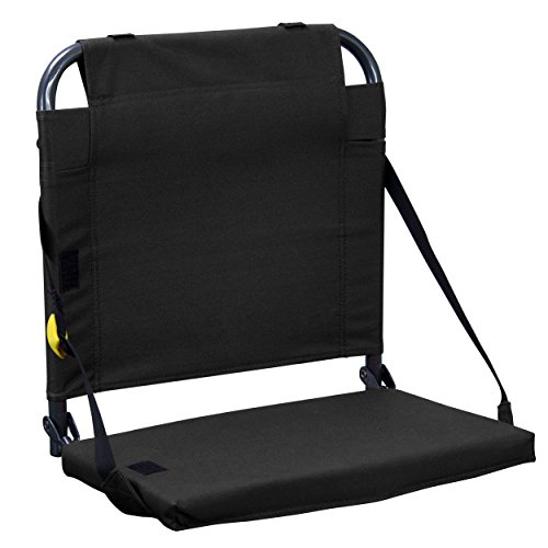 GCI Outdoor BleacherBack Stadium Seat with Adjustable Backrest, Black ()