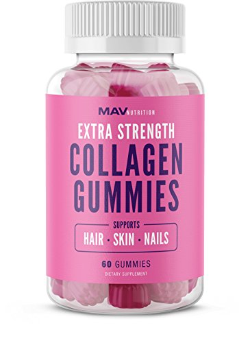 Collagen Gummies Supplement for Men & Women Formulated to Enhance Healthy Hair, Skin & Nails - Anti-Aging Benefits with Vitamin C, E, & Biotin Sustaining Firmness and Tone; All-Natural, NON-GMO