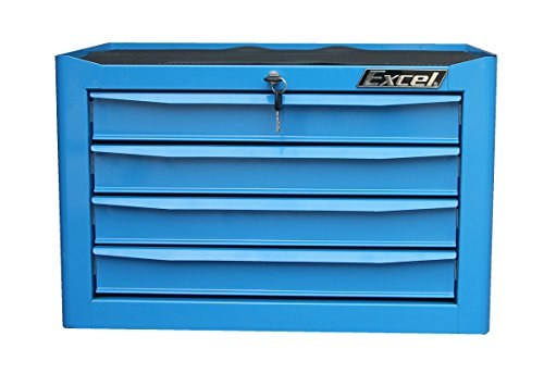 Excel TB2204-X Four Drawer Top Chest, 26 Inch, (4x4 Tool Box)