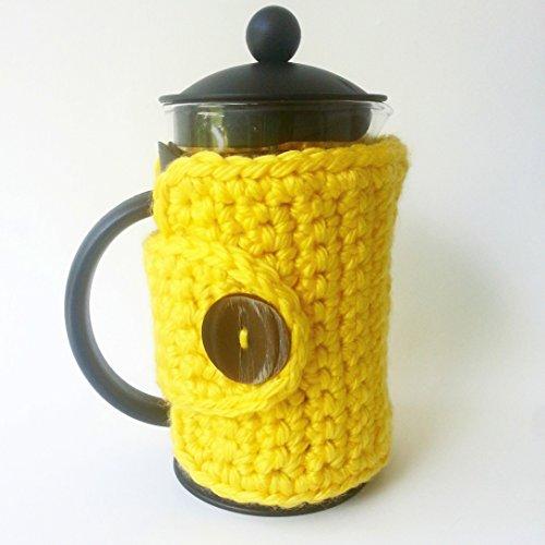 Yellow French Press Cozy Coffee Press Cozy