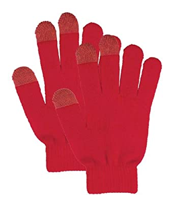 Unisex Solid Color Knit Winter Touchscreen Gloves for Smartphones & Tablets