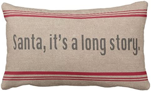 Amazon.com: emvency Throw almohada cover Santa es una larga ...