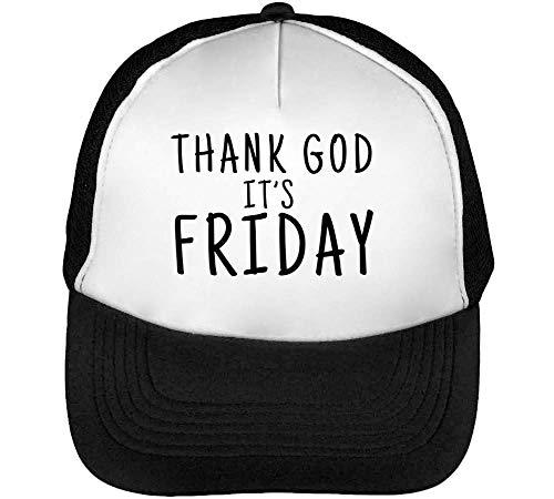 Funny God Friday Beisbol Gorras Hombre Slogan It'S Snapback Thank Blanco Negro TaqgndtT