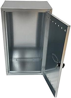 Einside - Caja de chapa de acero galvanizado para contador de gas, varios tamaños disponibles: Amazon.es: Bricolaje y herramientas