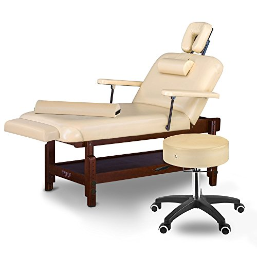 """Price comparison product image Master Massage Samson Stationary Massage Table Salon Beauty Bed Package Cream, 31"""""""