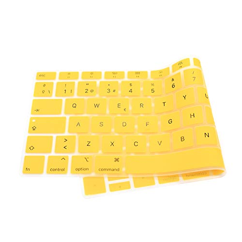 Amazon.com: HRH Spanish Language Silicone Keyboard Cover Skin for MacBook Newest Air 13 Inch 2018 Release A1932 with Retina Display and Touch ID,European ...