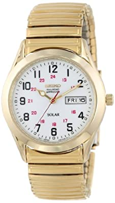 Seiko-Men-s-SNE064-Gold-Tone-Solar-White-Dial-Watch