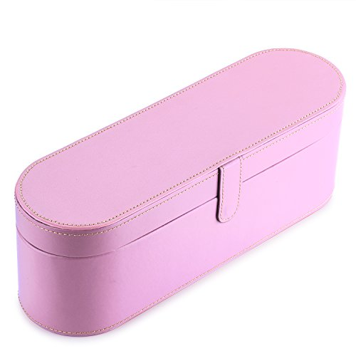 Price comparison product image BASSTOP PU Leather Hard Box Organizer Train Case Portable Travel case for Dyson Supersonic Hair Dryer Storage Case (Pink)