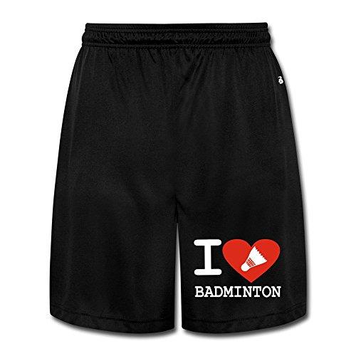Runy Hombres del amor Delgado de bádminton deportes Jogging Pantalones Cortos con bolsillo por Runy