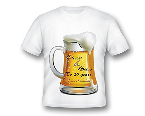9cf866d7a89f5 Amazon.com: Custom Cheers and Beers T-shirt, Cheers&Beers Shirt ...