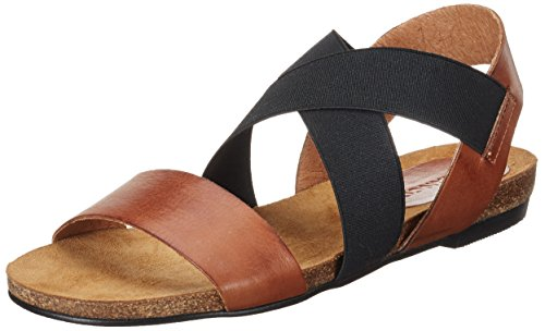 BIANCO Elastic Cross Sandal Jfm17, Sandali Donna Marrone (Light Brown)