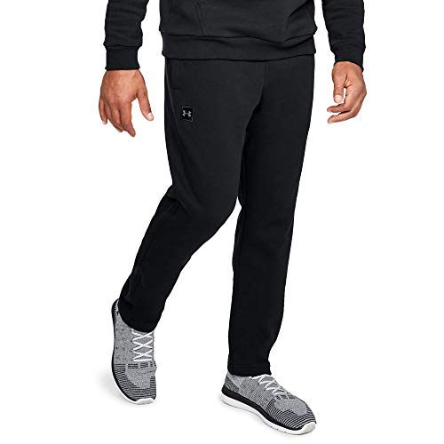Midweight Fleece Pant - Under Armour Men's Rival fleece Pants, Black (001)/Black, Large