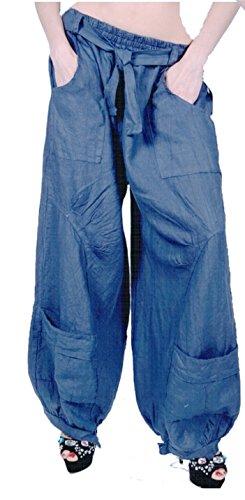 Grisodonna Style - Pantalón - harem - para mujer Azul