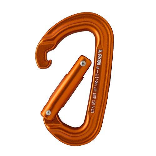 Fusion Climb 6 Pack 11cm Quickdraw Set with Contigua Black Straight Gate Carabiner/Contigua Orange Straight Gate Carabiner