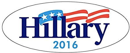 Oval Hillary 2016 TEN PACK BUMPER STICKERS Clinton Wholesale Priced Unbranded Vinyl 3 x 8