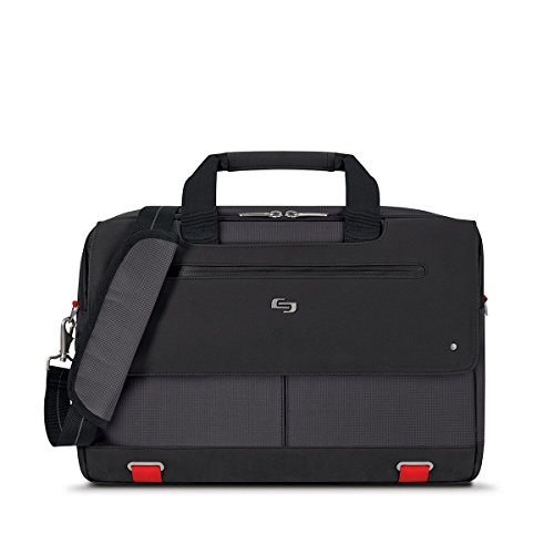 Solo 15.6 Inch Mission Briefcase with RFID Pocket, Black by SOLO