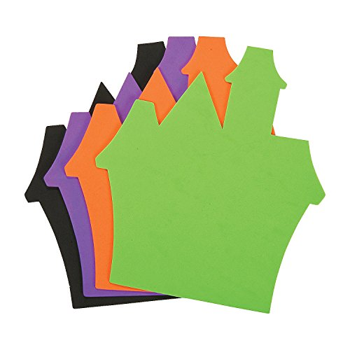 Fun Express - Jumbo Foam Haunted House Shape for Halloween - Craft Supplies - Foam Shapes - Jumbo - Halloween - 24 Pieces