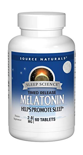 Source Naturals Sleep Science Melatonin 2mg - Time Release - 60 Tablets (Pack of 2)