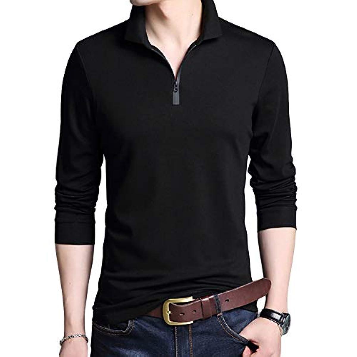 [해외] [YUNCLOS] 골프 웨어 맨즈 폴로 셔츠 긴 소매 POLO 개금 셔츠 무지