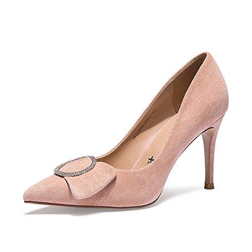 High Retro Zapatos Rhinestone Cuero De Luz Moda Mate Rosa Zapatos Heeled XZGC qExwF6Xq