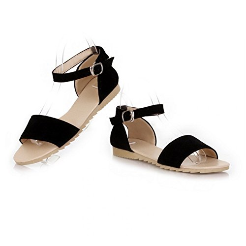 abierta de negro tacón Zapatos SHINIK mujer rojo Sandalias de y noche Frosted Flat Segundo punta fiesta para naranja Summer verde vgq558
