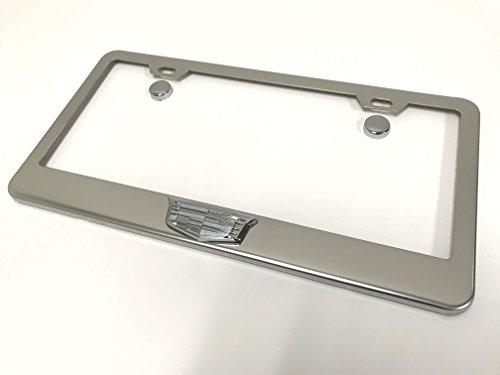 3D Cadillac Chrome Stainless Steel License Plate Frame Holder