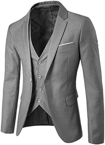 Batnott Herrenanzug Slim Fit 3 Piece Suit Blazer Business Hochzeitsgesellschaft Jacke Weste & Hose Männer Schwarz Blau Jacke Herren Mantel Herbst
