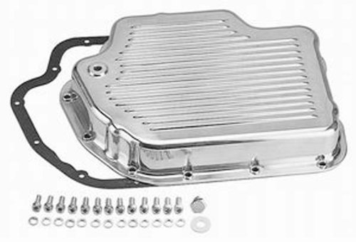 Racing Power Company R8492 Polished Aluminum Finned Transmission Pan by Racing Power