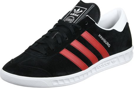 adidas Hamburg, Scarpe da Tennis Uomo core black-red-footwear white (BB5300)
