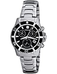 Wenger Womens 70746 Sport Elegance Chrono Black Dial Steel Bracelet Watch