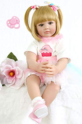 Toddler Collection (NPK collection 60cm Lovely Reborn Babies Soft Cloth Body 24inch Silicone Vinyl Princess Toddler Toy Alive Bebe Newborn Girl Doll Lovely Birthday Gift)