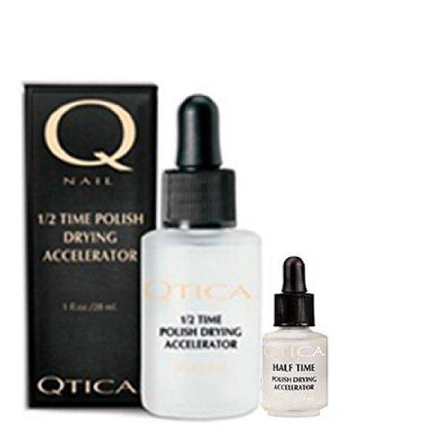 Qtica Half Time Polish (Qtica Half Time Polish Drying Accelerator - 1 oz with .25 oz Bottle Set)