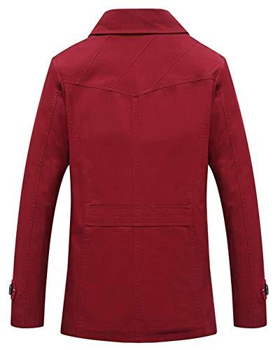 Casuale Harrington Retro Lavoro Bodeaux Uomo Jacket Sottile Classico Giacca Vintage Da Jackets 5wnwqHOzxF