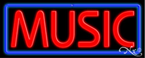 (13x32x3 inches Music NEON Advertising Window Sign)
