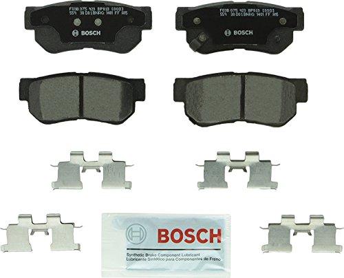 Bosch BP813 QuietCast Premium Semi-Metallic Disc Brake Pad Set For Select Hyundai Azera, Elantra, Santa Fe, Sonata, Tucson, XG300, XG350; Kia Amanti, Magentis, Optima, Sportage; Rear