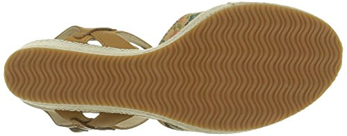 Women's Print Marron Multi Palladium Flower Tan Sandals C67 Walnut aESSqwv