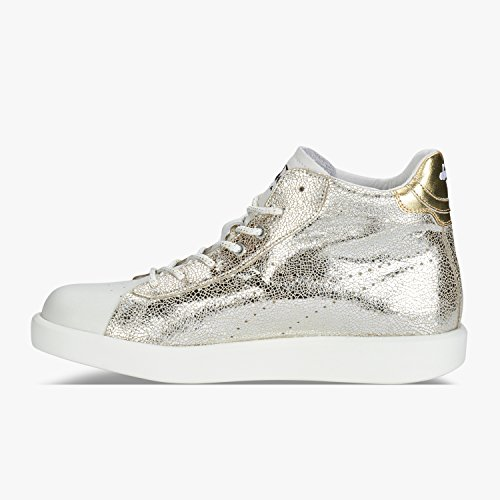 Silver H Heritage Giallo Donna Pelle Game Diadora Pack Sneakers Mid Silver fqg1AZPZw