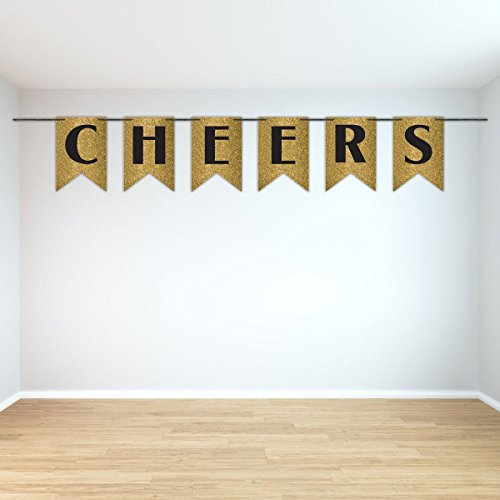 Amscan New Year Cheers Glitter Banner Party Supplies, Multicolor -