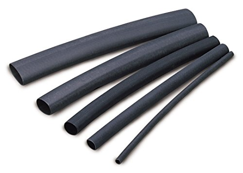 Ancor 302106 Marine Grade Electrical Adhesive Lined Heat Shrink Tubing (3/16-Inch Diameter, 6-Inches Long, Black, 10-Pack) by Ancor