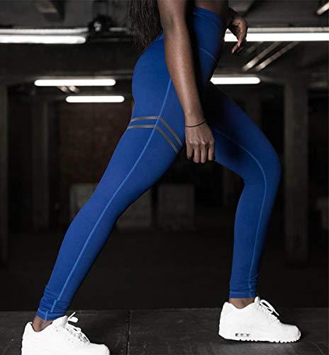 Fitness Sottile BLACKMYTH Tinta Pants Unita Yoga Blu Pantaloni Donna Leggings Workout 1xR7qwR5
